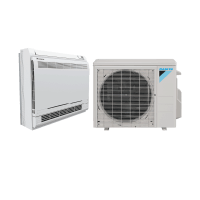Daikin AURORA™ Floor Mount single-zone heat pump.
