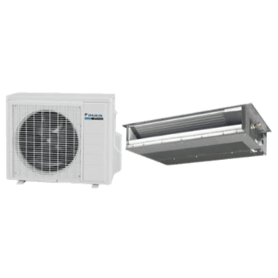 Daikin LV Series Slim Duct single-zone heat pump.